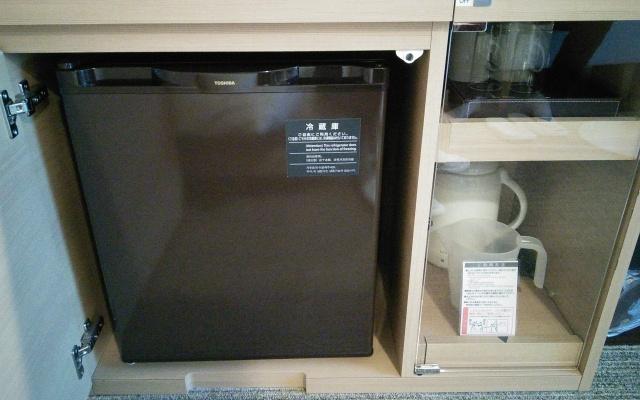 きっちりはまったポータブル冷蔵庫