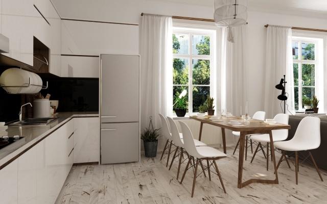 他の家具と調和した冷蔵庫