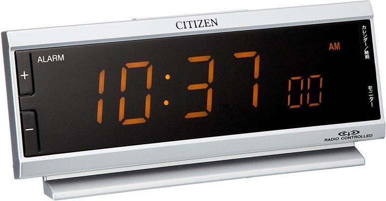 シチズン(CITIZEN) AC電源電波目覚まし時計 パルデジットピュア 8RZ099-019