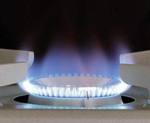 カセットガスコンロのタテ型炎口バーナー