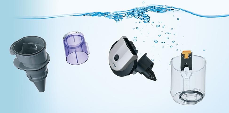 水洗い可能な掃除機パーツ