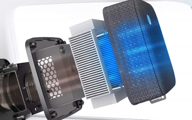 フィルター式の小型空気清浄機