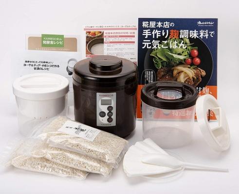 タニカ電器(TANICA) 醸壺(カモシコ)と乾燥米糀3個・糀屋本店ブックセット KS-12C
