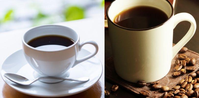 コーヒーカップとマグカップ