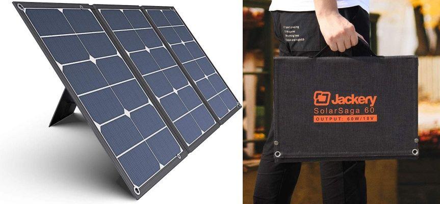 折り畳みタイプのソーラー充電器