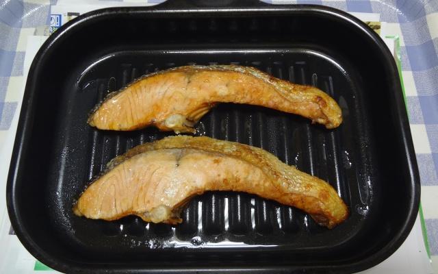 ラ・クックで作った鮭の塩焼き