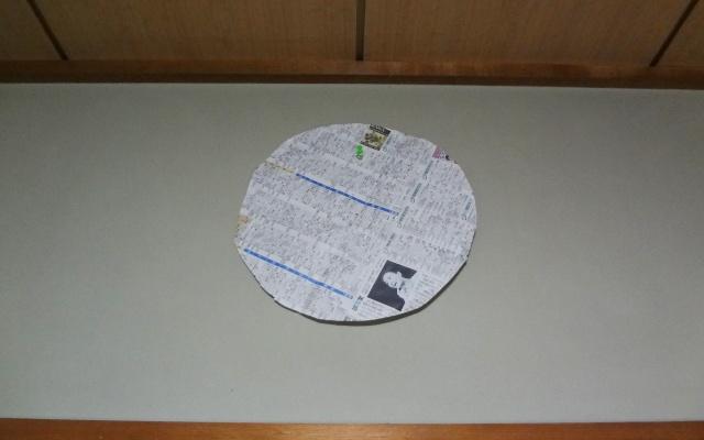 不要な紙を使い掛け時計をシミュレート