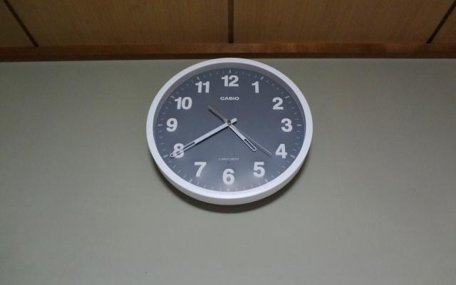 実際にマイルームに飾った掛け時計