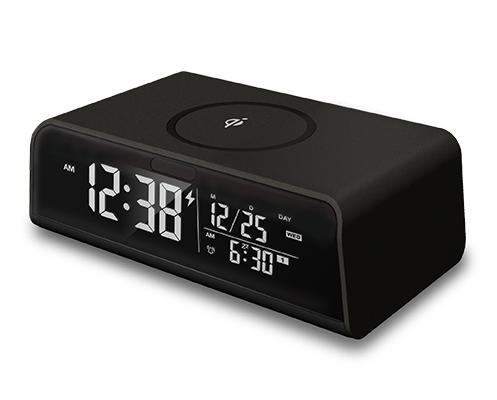 ADESSO(アデッソ) 目覚まし時計 Qi ワイヤレス充電 USBポート付き QA-03BK