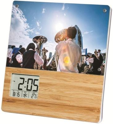 ADESSO(アデッソ) 置き時計 竹のフォトフレームクロック TP-603