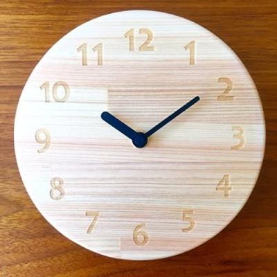 木遊舎 ひのき丸型時計