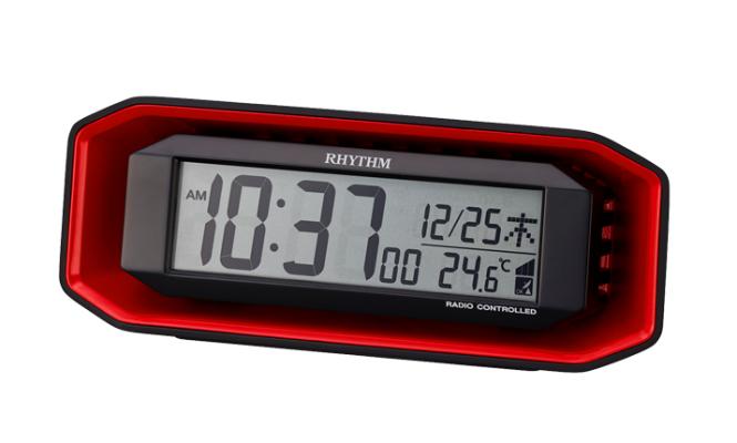 リズム時計工業(Rhythm) デジタル置き時計 レッド 8RZ220SR01