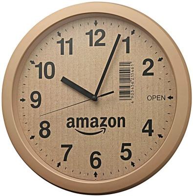 リズム時計工業(Rhythm) Amazon.co.jp限定 段ボール風掛け時計 4KG712CZ06