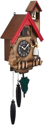 リズム時計工業(Rhythm) 鳩時計 掛け時計 カッコーチロリアンR 4MJ732RH06