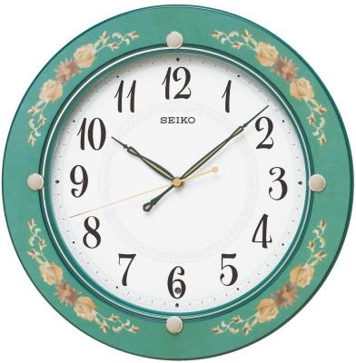 セイコークロック(SEIKO) 掛け時計 花柄模様 KX220M