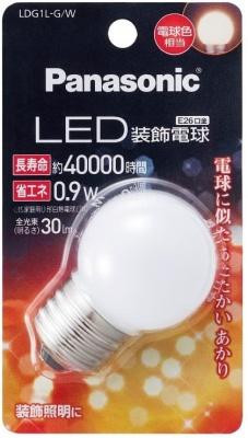 パナソニック LED電球 装飾電球・G型タイプ LDG1LGW